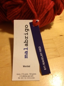 malabrigo worsted ravelry red tag
