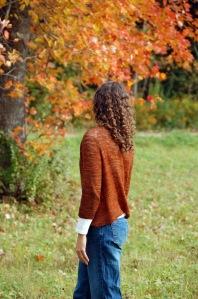 Fall Knitting Burnt Orange