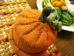 Fall Knitting Pumpkin Hat