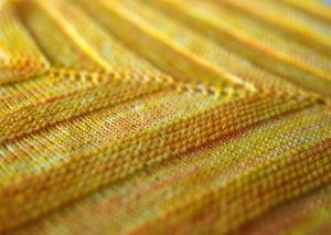 Fall Knitting Yellow Detail