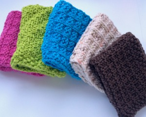 Hand knit cotton dish cloths