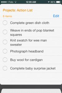 Reminders Action List