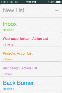 Reminders Action Lists